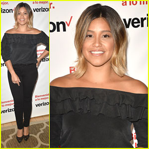 Gina Rodriguez Debuts Blonde Ombre Hair at Verizon Launch