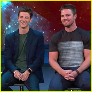 Grant gustin photos news and videos just jared jr page 15 grant gustin melissa benoist hint about flash supergirl musical episodes m4hsunfo