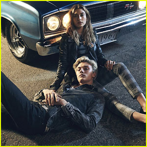 Lucky Blue Smith & Hailey Baldwin Are on Fire in Tommy Hilfiger's Denim Campaign