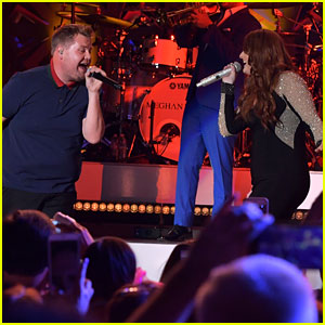 Meghan Trainor Duets with James Corden at Her Concert!