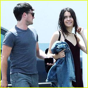 Josh Hutcherson Gets Visit From Girlfriend Claudia Traisac On Movie Set in LA