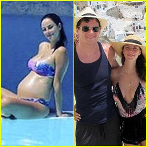 Pregnant Kaya Scodelario Bares Baby Bump in Bikini!