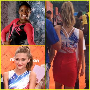 Lizzy Greene Wears Gymnast Simone Biles Inspired Leo at Kids Choice Sports Awards 2016
