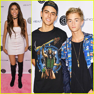 Madison Beer Checks Out BeautyCon with Jack & Jack