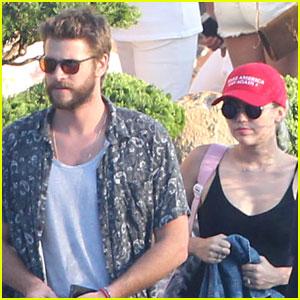 Miley Cyrus & Liam Hemsworth Do Dinner at Nobu