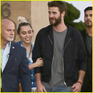 Miley Cyrus & Liam Hemsworth Head to Malibu for Dinner
