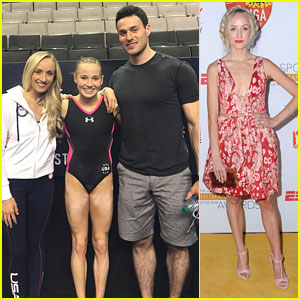 Nastia Liukin & Fiance Matt Lombardi Cheered On Madison Kocian at Olympic Trials