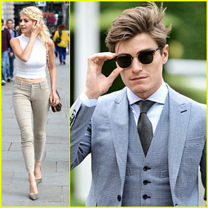 Oliver Cheshire Takes Dad Graeme To The Races While Pixie Lott Stays in London