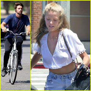 Patrick Schwarzenegger Bikes Around Malibu Before Lunch with Abby Champion