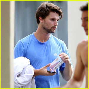 Patrick Schwarzenegger Hits Up a Yoga Class In LA