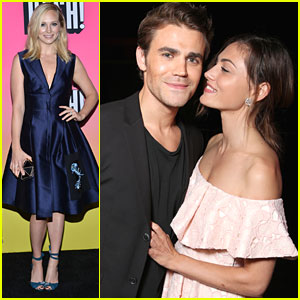 Phoebe Tonkin Kisses Paul Wesley at EW's Comic-Con Bash For Birthday