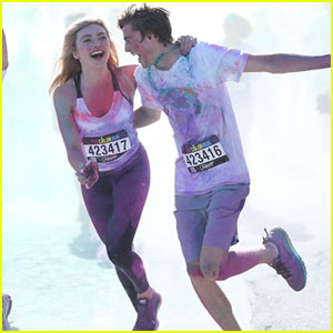 Peyton & Spencer List Participate in a Color Run!