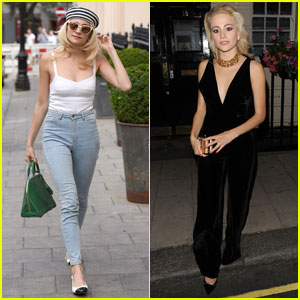 Pixie Lott Effortlessly Switches From Daytime to Nighttime Look
