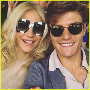 Pixie Lott & Oliver Cheshire Cheer On Andy Murray at Wimbledon
