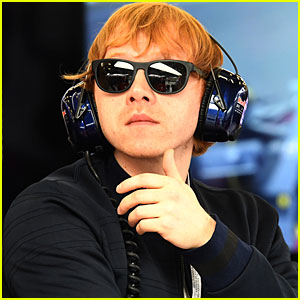 Rupert Grint Hits the Formula One Final Practice at Silverstone