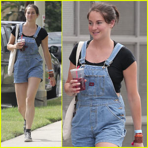 Shailene Woodley Looks Cute in Overall Shorts!