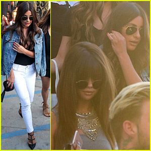 Selena Gomez Gets Her Hair Done with Lea Michele!