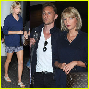 Taylor Swift Touches Down at LAX With Boyfriend Tom Hiddleston