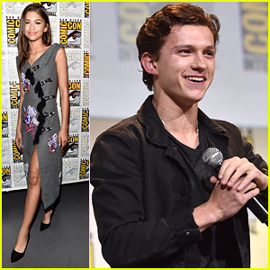 Zendaya Makes First Appearance at Comic-Con with 'Spider-Man: Homecoming' Cast