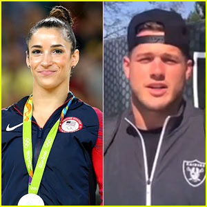 Aly Raisman Says She'll Go on a Date With Raiders Tight End Colton Underwood!