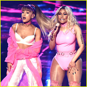 Ariana Grande Performs 'Side to Side' at MTV VMAs 2016 with Nicki Minaj (Video)