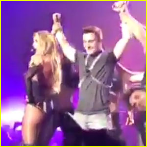 Colton Haynes Dances On Stage with Britney Spears - Watch Now!