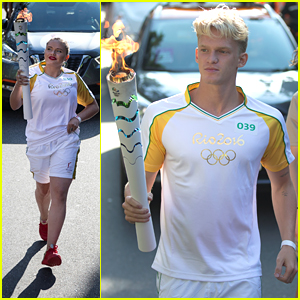 Cody Simpson Runs Olympic Torch Relay with Sister Alli in Rio