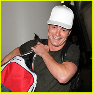 Colton Haynes is All Smiles While Arriving at LAX