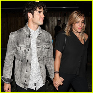 Darren Criss Heads to The Nice Guy With Girlfriend Mia Swier
