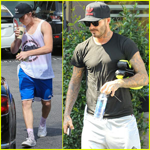 Brooklyn Beckham Grabs an Afternoon Smoothie with Dad David!