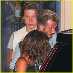 Brooklyn Beckham Dines with Parents After Debuting 'Dazed Korea' Covers