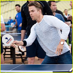 Derek Hough Plays Ping Pong For Kershaw's Challenge