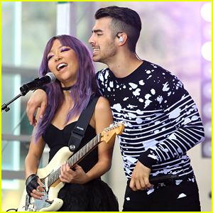 DNCE's JinJoo Lee Debuts Purple Hair For 'Today' Concert