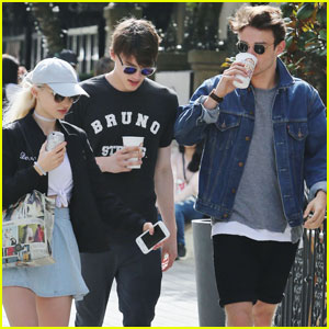 Dove Cameron & Mitchell Hope Grab Breakfast Together in Vancouver