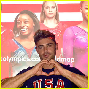 Zac Efron Continues to Share His Love for Simone Biles on Twitter!
