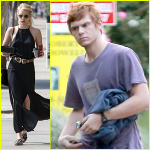 Emma Roberts Runs Into Ex Evan Peters At Friends' House Party