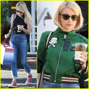 Emma Roberts Runs Some Errands During Time Off From 'Scream Queens'