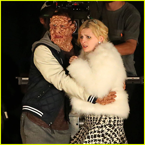 Taylor Lautner's Dr. Cassidy Gets Gruesome Makeover on 'Scream Queens' Set