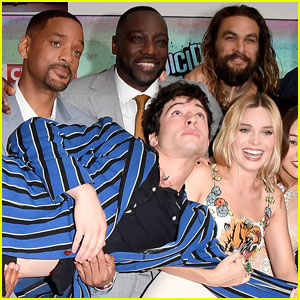 Ezra Miller Gets Carried Away at 'Suicide Squad' Premiere