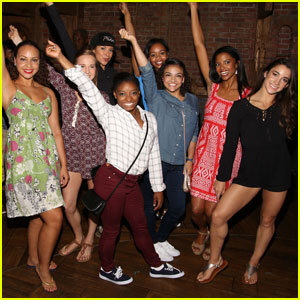 'Final Five' Continue Their NYC Tour at a 'Hamilton' Performance