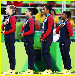 Gabby Douglas Criticized For Not Placing Hand Over Heart During National Anthem at Olympics