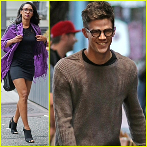 Grant Gustin & Candice Patton Dine Out With 'Supergirl' Stars After Grey Damon Joins Cast