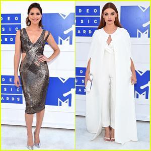 Shelley Hennig & Holland Roden Make Fashion Statements at MTV VMAs 2016