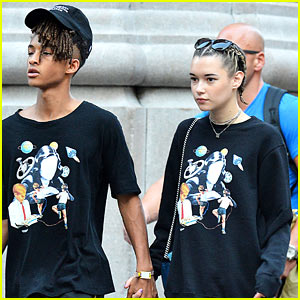 Jaden Smith & Girlfriend Sarah Snyder Rock Matching Outfits in NYC