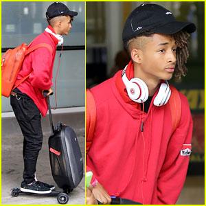 Jaden Smith Rides His Luggage Like a Skateboard!