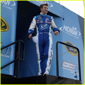 Jake Short Drives a Pace Car at NASCAR's Pure Michigan 400 Race