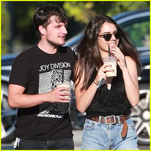 Josh Hutcherson & Claudia Traisac Enjoy Coffee During Day Off From 'Tragedy Girls'