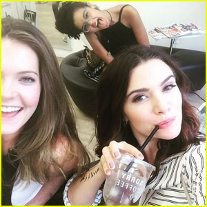 Katie Stevens Shares Set Pics From 'Issues'!