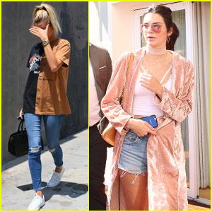 Kendall Jenner & Hailey Baldwin Enjoy Some Poolside Performances
