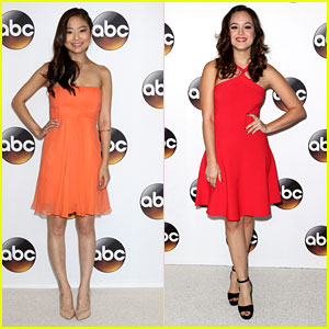 Krista Marie Yu & Hayley Orrantia Step Out For ABC's Summer TCA Tour Party